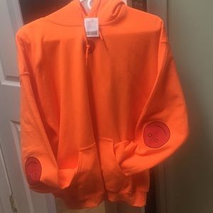 Urban Outfitters Orange Smiley Face Hoodie (nwt)